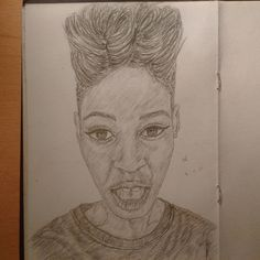 """#instaart #portrait #pencil #drawing #illustration #youngblackartists #sketchbook"""
