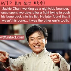 Things you never knew (and probably didn't want to know) about Jackie Chan - wtf fun facts