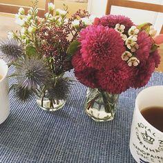 #休日 #花 #紅茶 #朝 Glass Vase, Instagram, Home Decor, Decoration Home, Room Decor, Home Interior Design, Home Decoration, Interior Design