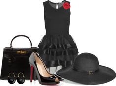 """Stylish Hat"" by arbbednnyl ❤ liked on Polyvore"
