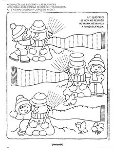 Crafts,Actvities and Worksheets for Preschool,Toddler and Kindergarten.Lots of worksheets and coloring pages. Winter Activities, Christmas Activities, Preschool Activities, Tracing Worksheets, Worksheets For Kids, Pre Writing, Winter Theme, Winter Sports, In Kindergarten