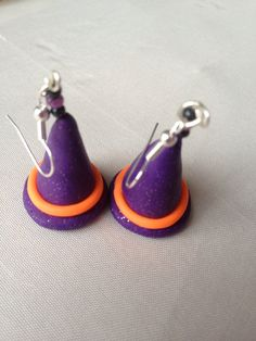 Halloween Witches Hat Polymer Clay Earrings