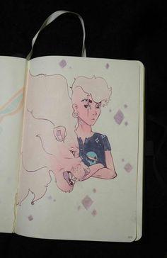 """Lars and Lion, Steven Universe"", paper, Steven Universe Tattoos, Lars Steven Universe, Steven Universe Theories, Steven Universe Lapis, Cn Fanart, Anime Tattoos, Cool Art Drawings, Lion Tattoo, Nerdy"