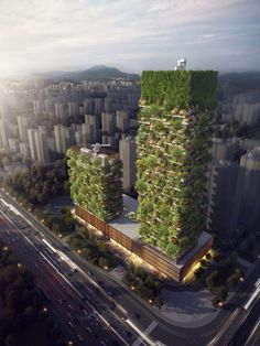 """Nanjing Green Towers (by Stefano Boeri Architetti, Nanjing, China) The buildings we eagerly expect in 2018 will feature using plenty of words like """"first"""" and """"biggest"""".Here is our list of the most awaited 2018 buildings"""