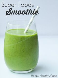 This Superfoods Smoothie is energizing, nutrient-dense, and makes a great quick and easy breakfast.
