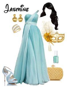"""Disney - Jasmine"" by briony-jae ❤ liked on Polyvore featuring Bottega Veneta, Masquerade, Coloriffics, Marco Bicego and Essie"