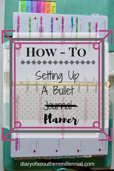 Didn't like the bullet journal trend? Try a bullet planner! Here is how I set up my own bullet planner. diaryofasouthernmillennial.com