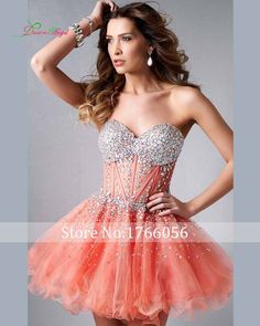 Charming Short Homecoming Dress 2017 New Arrival Sweetheart Crystal Beads Lace up College Junior Graduation Dress Party Dress