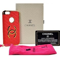 New Arrival Real Chanel iPhone 6 Cases - iPhone 6 Plus Cases - Leather Red - Free Shipping - Chanel & Louis Vuitton Authorized Store