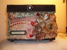 A box I altered to hold my sizzix texture plates.