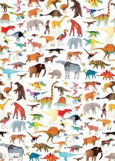 Dinosaurs Extinct Giftwrap Ohh Deer