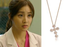 "Kang So Ra in ""Doctor Stranger"" Episode 12.  Ganeshi 18K Cross Necklacer #Kdrama #DoctorStranger #KangSoRa #강소라"