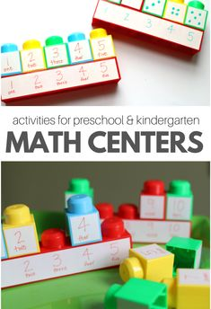 Math Center Number Activities - No Time For Flash Cards
