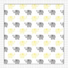 Yellow Elephant Digital Paper Gender Neutral Baby Shower