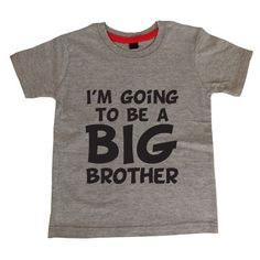 The perfect t-shirt if your little boy is soon going to be a big brother! Only £8.99 with FREE UK DELIVERY at www.cheekybabytees.co.uk
