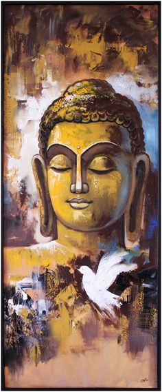 Adorn your walls with this artwork that imparts peace and serenity upon its surroundings. Buddha Artwork, Buddha Wall Art, Buddha Zen, Buddha Peace, Gautama Buddha, Buda Painting, Art Asiatique, Art Corner, Mystique