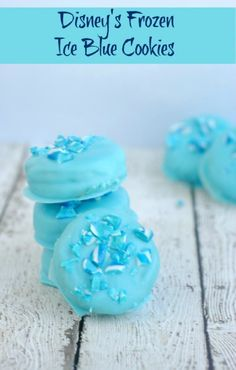 Zoey b-day Disney's Frozen Recipe: Cute Ice Blue Cookies