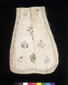 Pocket   VA Search the Collections , linen embroidery on dimity 1700-25 #1411-1900