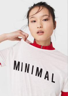 T-shirt estampada algodão | MANGO