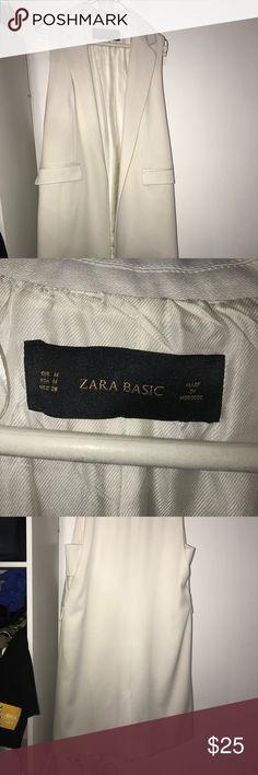 Zara off white long line blazer vest Zara off white long line blazer vest Zara Jackets & Coats Vests