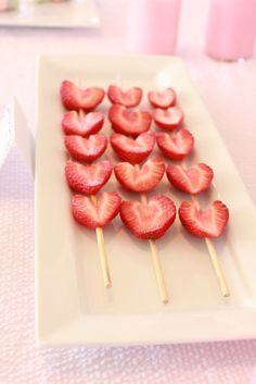 Strawberry heart kabobs