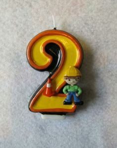 $8.50 ebay Construction Worker Themed Birthday Party Hand Painted Candle ANY Age