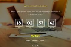 HTML Coming Soon Website Template by Themesforce on @creativemarket