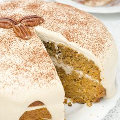 Pumpkin Carrot Cake with Cream Cheese Frosting Recipe from Grandmother's Kitchen