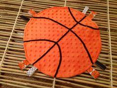 Basketball sports taggie lovey blanket by pickledginger1 on Etsy, $14.00