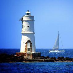 #blue #sea #boat #lighthouse #beach #sky #sardinia #santantioco #sulcis #jj #statigram #webstagram #instagramhub #igsardegna #gmy #insta_shot #insta_pick #iphonesia #foto_italiane #colore_italiano #scatti_italiani #phototag_it #irox_water #
