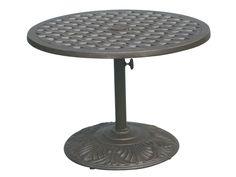 ... 30 Cast Aluminum Antique Bronze 30 Round Pedestal Tea Table | DADL30P