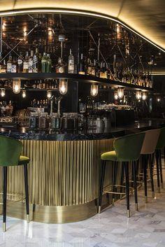 Incredible Bar Interior Design with Tropical Inspirations! Design Bar Restaurant, Deco Restaurant, Home Luxury, Luxury Bar, Bar Interior Design, Cafe Design, Design Hotel, Bar Lounge, Bar Speakeasy