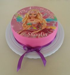 Character print cake: Barbie Cake Creations, Barbie, Birthday Cake, Desserts, Character, Food, Tailgate Desserts, Deserts, Birthday Cakes