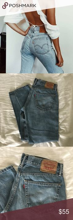 Levi's 505 Jean 32 x 30 Purchased from a warehouse, the perfect pair of levi's. Has trendy distressed ankles and is the most gorgeous blue shade. Never worn by me as they are not my size. Levi's Jeans Straight Leg