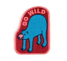 Go Wild Iron On Patch by MokuyobiThreads on Etsy