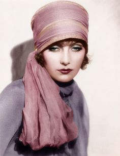 Greta Garbo - Yes, I would wear this vintage hat right now!  Some things need to be brought back to life!