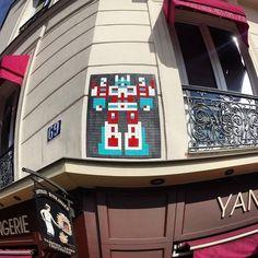 Invader, Paris, 2016 Invader Paris, Space Invaders, Mosaic Art, Pixel Art, Children, Mosaics, Mosaic