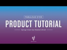 Younique Product Tutorial Part 1: Apply Splurge Cream Shadow with a Brush