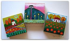latest 3 little house paintings | blog link | Regina Lord | Flickr