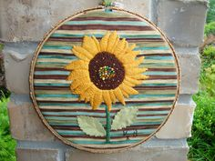 Sunflower Embroidery Hoop Art