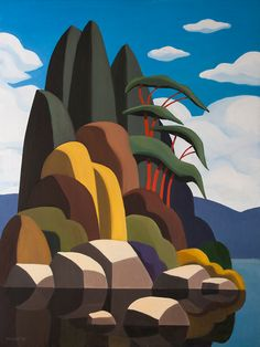 andy wooldridge night visit to kingsport Canadian Painters, Canadian Artists, Art And Illustration, Illustrations, Abstract Landscape, Landscape Paintings, Guache, Art For Art Sake, Types Of Art