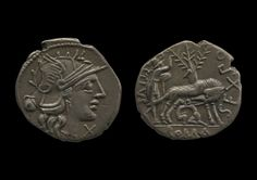 Silver coin. Roman Republic 137BC.  © The Trustees of the British Museum