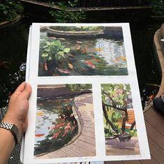 Koi pool #aquarelle #watercolor #watercolorpainting #paint #waterblog