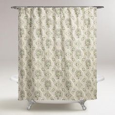 One of my favorite discoveries at WorldMarket.com: Helsinki Tile Shower Curtain