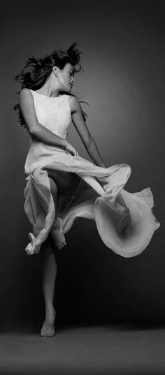 tenue de danse moderne, robe de danse blanche