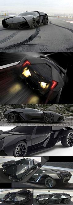 Lamborghini Ankonian - named after a #bull famous for its jet black hair. By designer Slavche Tanevski