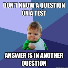 The best feeling when taking a test