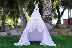 Memo: ▂▂▂▂▂▂▂▂▂▂▂▂▂▂▂▂▂▂▂▂ Ready to ship item will be shipped in 3 business days Designer talk: ▂▂▂▂▂▂▂▂▂▂▂▂▂▂▂▂▂▂▂▂ Purpleholic, with lavender base and extra wide ruffle lace with scallop edge. The teepee uses lightweight lavender base cotton blend. The fabric is breathable and will allow more light coming in the tent which makes it friendly for summer and photography. Dimension: ▂▂▂▂▂▂▂▂▂▂▂▂▂▂▂▂▂▂▂▂ The base size of the teepee is 42inches*42 inches. The poles are 6ft long 1 inch diameter…