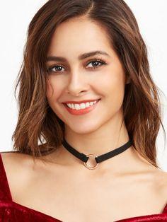 Samt Halskette-schwarz