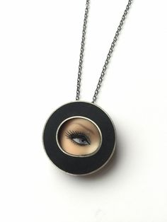 Image of Eye Necklace in Black